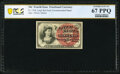 Fractional Currency:Fourth Issue, Fr. 1258 10¢ Fourth Issue PCGS Banknote Superb Gem Unc 67 PPQ.. ...