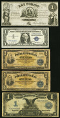 Assortment of Eleven World and US Numismatic Items Fine or Better