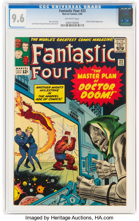 Fantastic Four #23 (Marvel, 1964) CGC NM+ 9.6 Off-white pages....