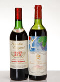 Red Bordeaux, Chateau Mouton Rothschild. 1982 Pauillac htms, cc Bottle (1). B.V. Private Reserve Cabernet Sauvignon. 1974 ... (Total: 2 Btls. )