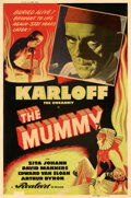 """Movie Posters:Horror, The Mummy (Realart, R-1951). Fine+ on Linen. Silk Screen Poster (40"""" X 60"""").. ..."""