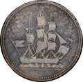 """Canada: Lower Canada """"Montreal Ropery"""" 1/2 Penny Token ND (1828) VG10 Brown NGC"""