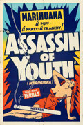 """Movie Posters:Exploitation, Assassin of Youth (Roadshow, 1937). Folded, Fine/Very Fine. Silk Screen One Sheet (28"""" X 42.25"""").. ..."""