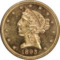 1893 $5 MS62 Prooflike NGC. NGC Census: (2/1). PCGS Population: (0/0). MS62. Mintage 1,528,197. ...(PCGS# 78383)