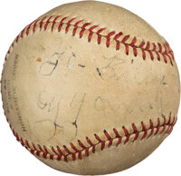 1931 Cy Young Single Signed Baseball with Inscription