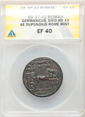 Ancients: Germanicus (died AD 19). AE dupondius (29mm, 16.51 gm, 8h). ANACS XF 40