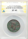Ancients: Marcus Agrippa, lieutenant of Augustus (died 12 BC). AE as (28mm, 10.29 gm, 6h). ANACS XF 40