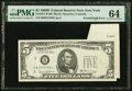 Error Notes:Foldovers, Printed Fold Error Fr. 1971-B $5 1969B Federal Reserve Note. PMG Choice Uncirculated 64.. ...