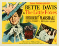 """Movie Posters:Drama, The Little Foxes (RKO, 1941). Fine/Very Fine on Paper. Half Sheet (22"""" X 28"""") Style A.. ..."""