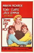 """Movie Posters:Comedy, Some Like It Hot (United Artists, 1959). Fine+ on Linen. One Sheet (27"""" X 41"""").. ..."""