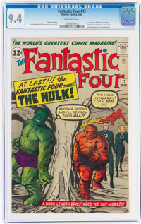 Fantastic Four #12 (Marvel, 1963) CGC NM 9.4 Off-white pages