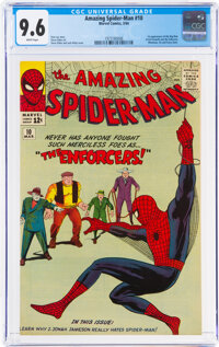 The Amazing Spider-Man #10 (Marvel, 1964) CGC NM+ 9.6 White pages