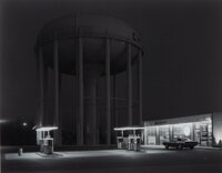George Tice (American, 1938) Petit's Mobil Station, Cherry Hill, New Jersey, 1974 Selenium toned gel