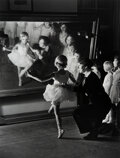Photographs, Alfred Eisenstaedt (American, 1898-1995). First Lesson at Truempy Ballet School, Berlin, 1930. Gelatin silver, printed l...