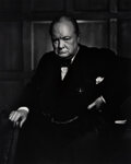 Photographs, Yousuf Karsh (Canadian, 1908-2002). Winston Churchill, 1941. Gelatin silver, printed later. 20 x 16 inches (50.8 x 40.6 ...