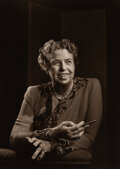 Photographs, Yousuf Karsh (Canadian, 1908-2002). Portrait of Eleanor Roosevelt. Gelatin silver. 9-1/4 x 6-5/8 inches (23.5 x 16.8 cm)...