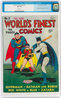 World's Finest Comics #3 (DC, 1941) CGC VG+ 4.5 Off-white pages