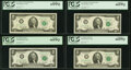Fr. 1935-C*; D; F*; G; I; K; L $2 1976 Federal Reserve Notes. PCGS Graded Choice New 63PPQ-Gem New 66PPQ; Fr. 1935-H* $2...