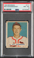 Baseball Cards:Singles (1940-1949), 1949 Bowman Red Schoendienst #111 PSA NM-MT 8....