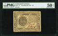 Continental Currency November 29, 1775 $7 PMG About Uncirculated 50 EPQ