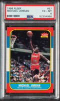 Basketball Cards:Singles (1980-Now), 1986 Fleer Michael Jordan #57 ROOKIE PSA EX-MT 6....
