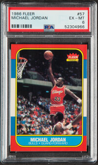 1986 Fleer Michael Jordan #57 ROOKIE PSA EX-MT 6