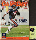 """Football Collectibles:Tickets, 1989 Chicago Bears vs. Green Bay Packers """"Instant Replay Game"""" Program & Ticket Stub. ..."""
