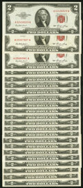 Small Size:Legal Tender Notes, Fr. 1509 $2 1953 Legal Tender Note. Twenty-Two Examples. Crisp Uncirculated or Better.. ... (Total: 22 notes)