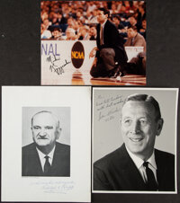 College Basketball Coaching Legends Signed Images, Lot of 3.... (Total: 3 item)