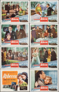 """Movie Posters:Hitchcock, Rebecca (Selznick, R-1950s). Very Fine. Lobby Card Set of 8 (11"""" X 14""""). Hitchcock.. ... (Total: 8 Items)"""