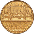 """Hungary, Hungary: Ferdinand I gold """"Last Supper"""" Medal of 10 Ducats 1534-Dated MS63 NGC,..."""