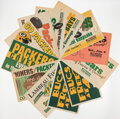 Football Collectibles:Others, Green Bay Packers Coverage Newspaper Displays, Lot of 21....
