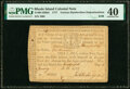 Rhode Island January 28, 1777 $100 (Various Handwritten Dates and Denominations) RI-263hd PMG Extremely Fine 40