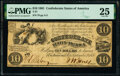 Confederate Notes:1861 Issues, T27 $10 1861 PF-2 Cr. 224 PMG Very Fine 25.. ...