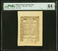 Colonial Notes:Rhode Island, Rhode Island May 1786 9d PMG Choice Uncirculated 64 EPQ.. ...