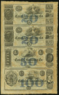 Obsoletes By State:Louisiana, New Orleans, LA- Canal & Banking Co. $20-$20-$50-$100 18__ Uncut Sheet Choice Crisp Uncirculated.. ...