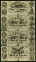 Augusta, GA- Bank of Augusta $10-$20-$20-$50 18__ Uncut Sheet Extremely Fine