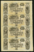 New Orleans, LA- Canal Bank $10-$10-$10-$10 18__ Uncut Sheet Choice Crisp Uncirculated