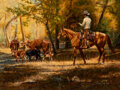 Paintings, Tim Cox (American, b. 1957). Riding the Herd, 1978. Oil on Masonite. 18 x 24 inches (45.7 x 61.0 cm). Signed and dated l...