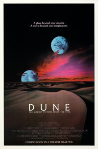 """Dune (Universal, 1984). Rolled, Very Fine+. One Sheet (27"""" X 41"""") Advance, 2 Moons Style"""