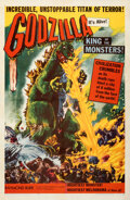 "Movie Posters:Science Fiction, Godzilla (Trans World, 1956). Fine+ on Linen. One Sheet (27"" X 41"").. ..."