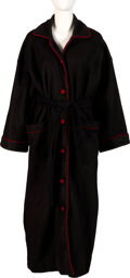 Music Memorabilia:Costumes, Barbra Streisand Owned Long Black Robe With Red Trim. ...