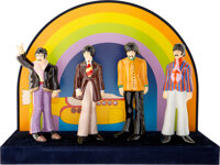 The Beatles Yellow Submarine Set of Four Fab Figurines With Stage (Goebel, 2006)