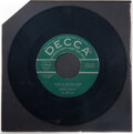 "Music Memorabilia:Recordings, Buddy Holly ""That'll Be the Day"" Green Label Promo 45 (Dec..."