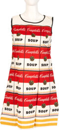 "Movie/TV Memorabilia:Costumes, Andy Warhol Design Campbell's Soup ""Souper"" Dress (mid-1960s)...."