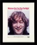 """Music Memorabilia:Autographs and Signed Items, John Lennon Signed """"Whatever Gets You Thru the Night"""" Sheet Music...."""