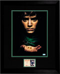 Movie/TV Memorabilia:Autographs and Signed Items, Elijah Wood Signed Lord of the Rings Promo Poster. ...