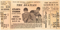 The Beatles Unused Atlanta Stadium Ticket (1965)