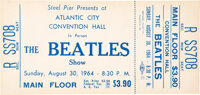 The Beatles Unused Atlantic City Convention Hall Concert Ticket (Steel Pier, 1964)
