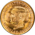 Commemorative Gold, 1917 G$1 McKinley Gold Dollar MS66 NGC. NGC Census: (178/50). PCGS Population: (443/84). MS66. Mintage 10,000. ...